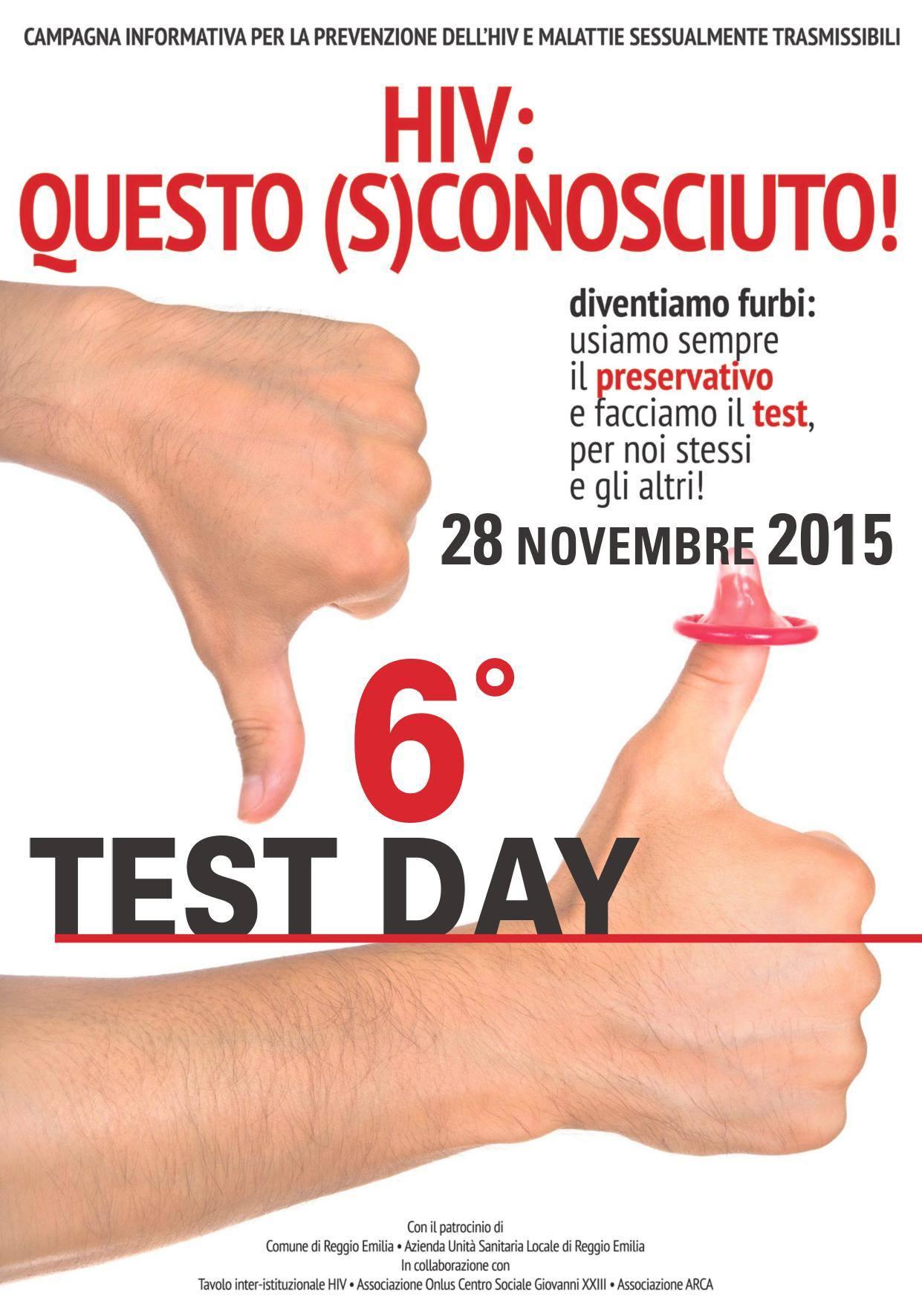 HIV, questo sconosciuto  –  6° Test day