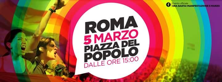 Il 5 marzo si va tutti a Roma!!!