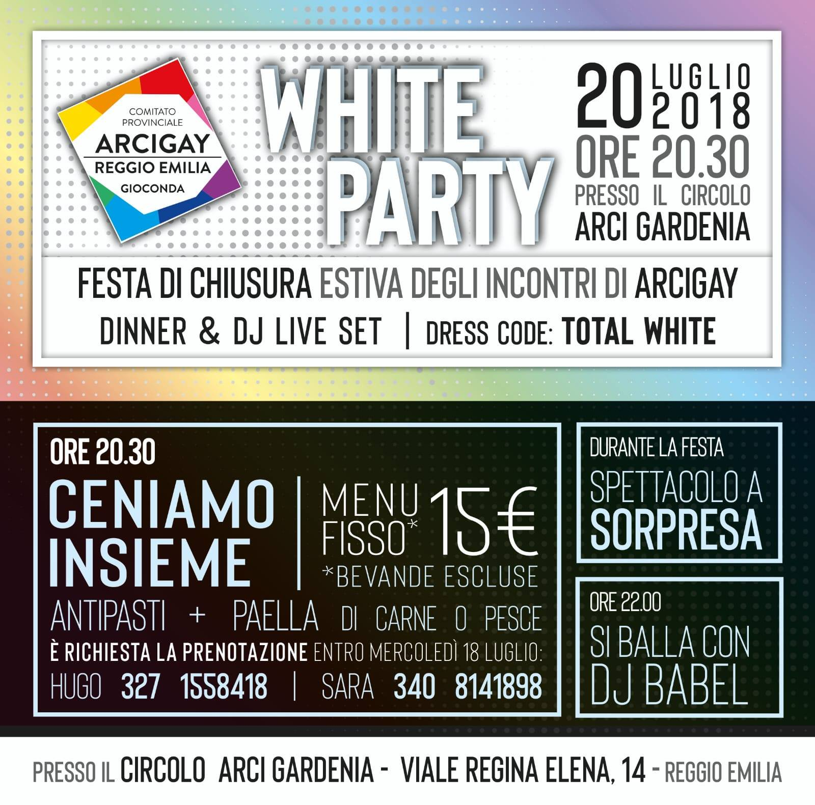 """White Party"" e pausa estiva"