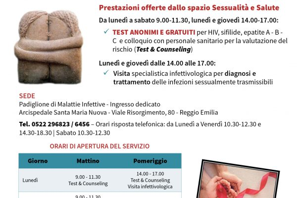 Apre uno spazio anonimo e gratuito dove fare esami e visite sulle infezioni sessualmente trasmissibili!